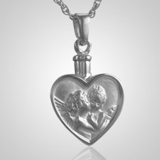 Cherub Heart Keepsake Pendant