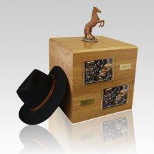 Chesnut Rearing Full Size Large Horse Urn