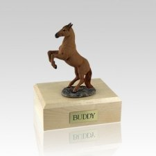 Chesnut Rearing Small Horse Cremation Urn