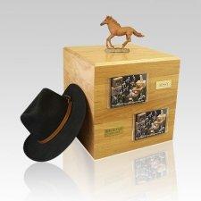 Chesnut Running Full Size Horse Urns