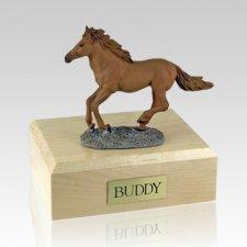 Chesnut Running Large Horse Cremation Urn