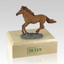 Chesnut Running X Large Horse Cremation Urn