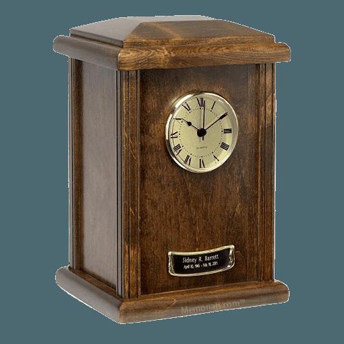 Chestnut Clock Cremation Urns