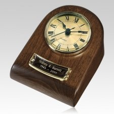 Chestnut Clock Keepsake Cremation Urn