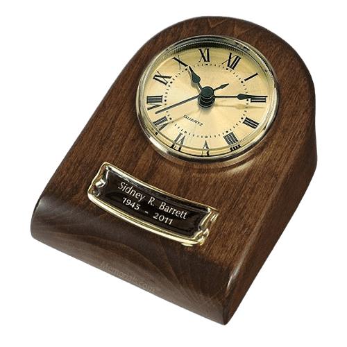 Chestnut Clock Keepsake Cremation Urn