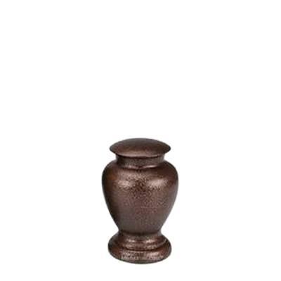 Chestnut Small Metal Pet Urn