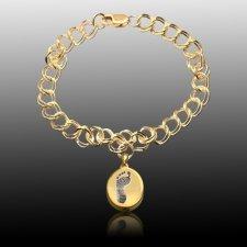Chic 14k Gold Cremation Print Bracelet