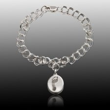 Chic 14k White Gold Cremation Print Bracelet
