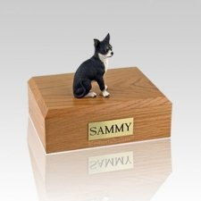 Chihuahua Black & White Large Dog Urn
