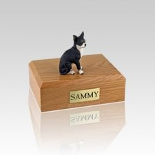 Chihuahua Black & White Small Dog Urn