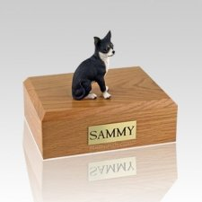 Chihuahua Black & White X Large Dog Urn