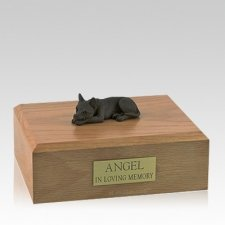 Chihuahua Chocolate Lying Large Dog Urn