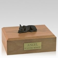 Chihuahua Chocolate Lying Dog Urns