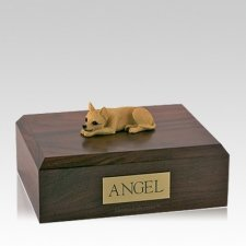 Chihuahua Tan Large Dog Urn