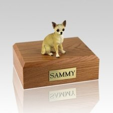 Chihuahua White & Tan Dog Urns
