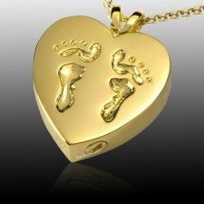 Child Feet Cremation Pendant IV