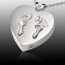 Child Feet Cremation Pendant