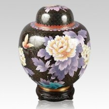 China Black & Gold Cloisonne Keepsake Cremation Urns