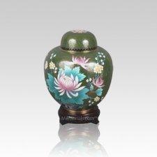 Oriental Lotus Small Cloisonne Urn