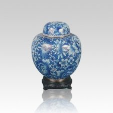 Oriental Light Blue Small Cloisonne Urn