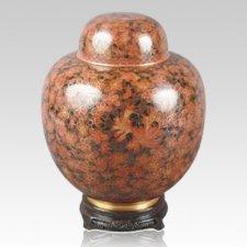 Oriental Red Cloisonne Urn