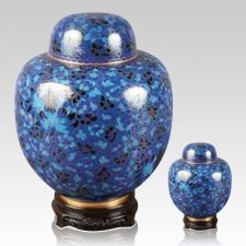 Oriental Blue Cloisonne Cremation Urns