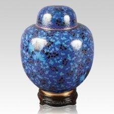 Oriental Blue Cloisonne Urn