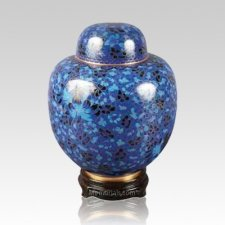 Oriental Blue Medium Cloisonne Urn
