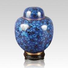 Oriental Blue Medium Cloisonne Urn