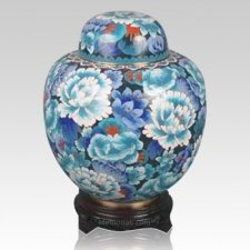 China Multi Flowers Cloisonne Keepsake Cremation Urns