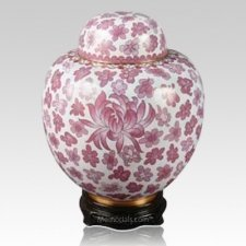 China Pink Cloisonne Keepsake Cremation Urns
