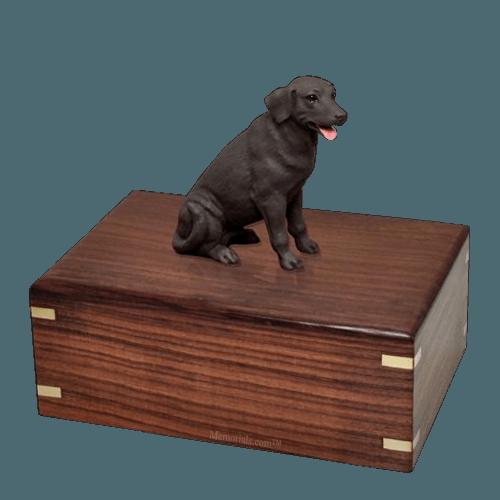 Chocolate Labrador Large Doggy Urn