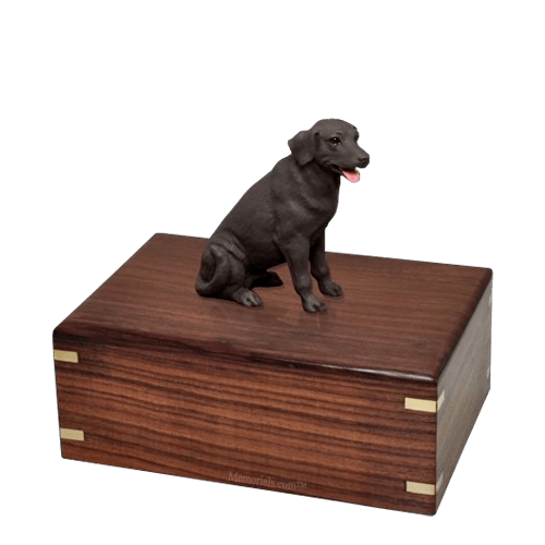 Chocolate Labrador Medium Doggy Urn