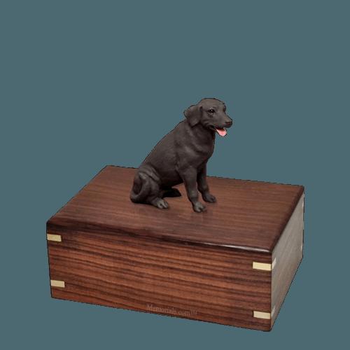 Chocolate Labrador Small Doggy Urn