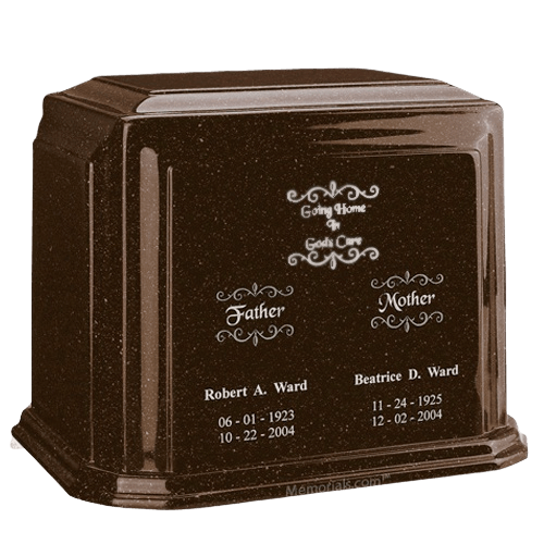 Chocolate Marble Urn For Two