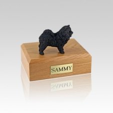 Chow Black Small Dog Urn