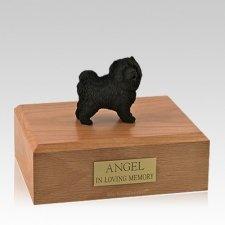 Chow Black Standing Large Dog Urn