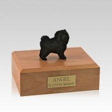 Chow Black Standing Medium Dog Urn