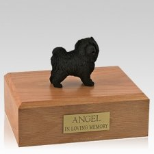 Chow Black Standing Dog Urns