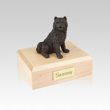 Chow Bronze Small Dog Urn