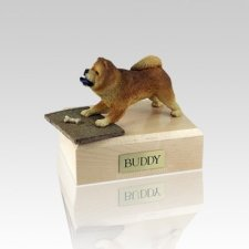 Chow Chow Red Playing Medium Dog Urn