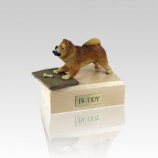 Chow Chow Red Playing Small Dog Urn