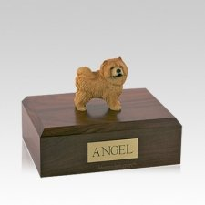 Chow Red Standing Medium Dog Urn