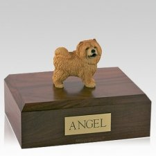 Chow Red Standing Dog Urns