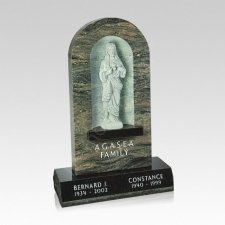 Christ Companion Granite Headstone