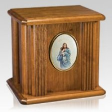 Christ Wood Cremation Urn