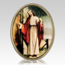 Christ at the Door Medallion Applique