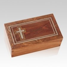 Christian Wood Cremation Urns