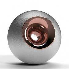 Chrome & Copper Orb Urns