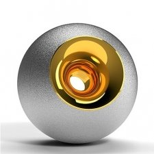 Chrome & Gold Orb Urns